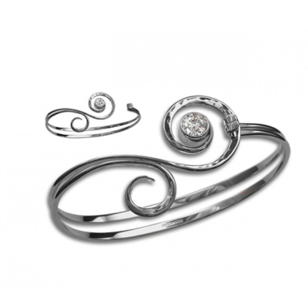 Fiddlehead-Bracelet-E.L. Designs by Ed Levin Studio-teklaestelle