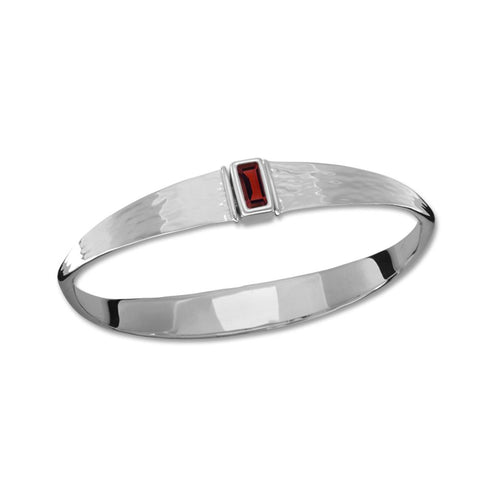 Manhattan, Garnet, Sterling Silver