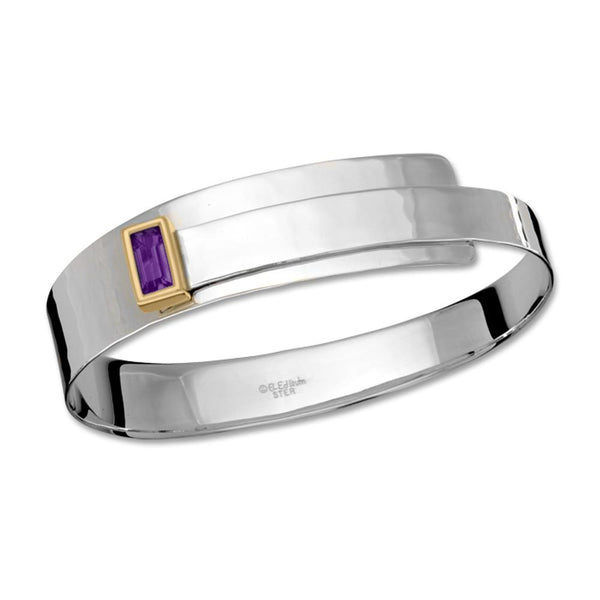 Ed Levin Jewelry-Bracelet-Fifth Avenue, Amethyst, Sterling Silver & 14k Gold Accent
