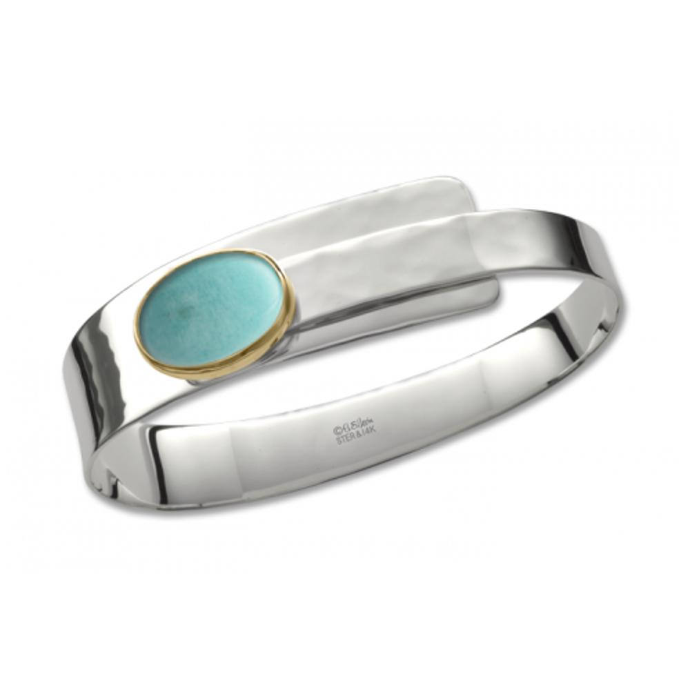 Turquoise / Silver & 14k Accent