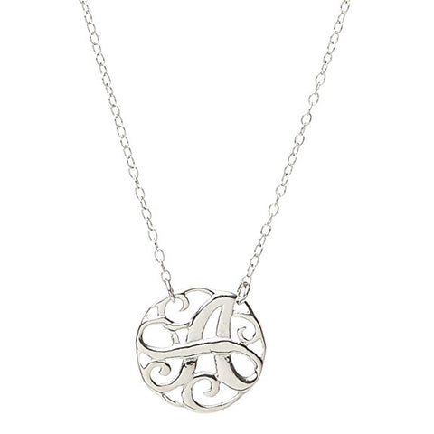 Monogram Letter A Necklace-teklaestelle