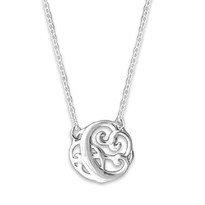 Monogram Letter C Necklace-teklaestelle