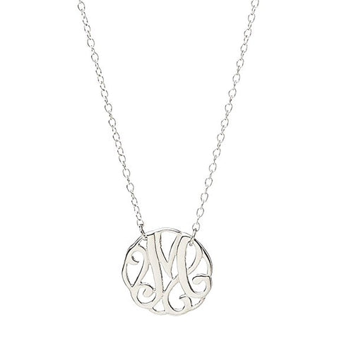 Monogram Letter M Necklace-teklaestelle