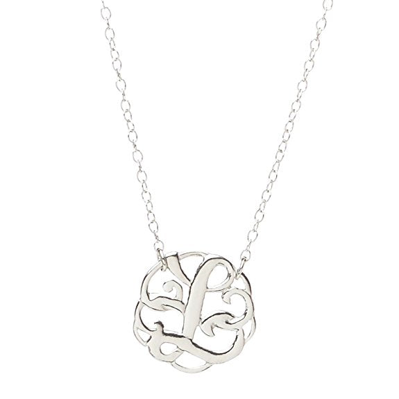 Monogram Letter L Necklace-teklaestelle