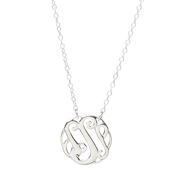 Monogram Letter S Necklace-teklaestelle