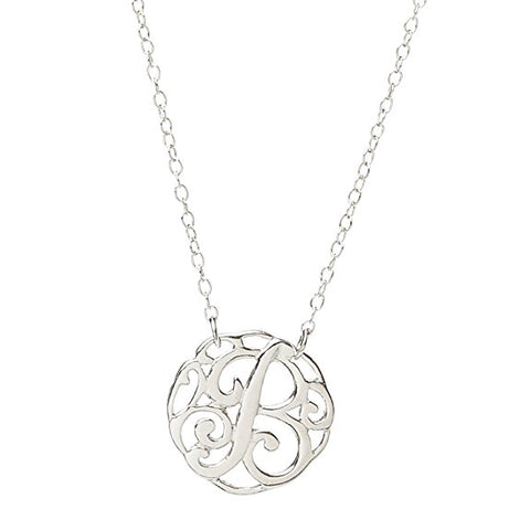 Monogram Letter B Necklace-teklaestelle