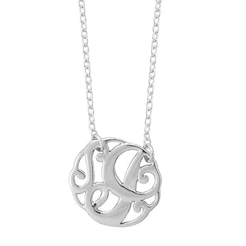 Monogram Letter J Necklace-teklaestelle