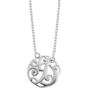 Monogram Letter D Necklace-teklaestelle
