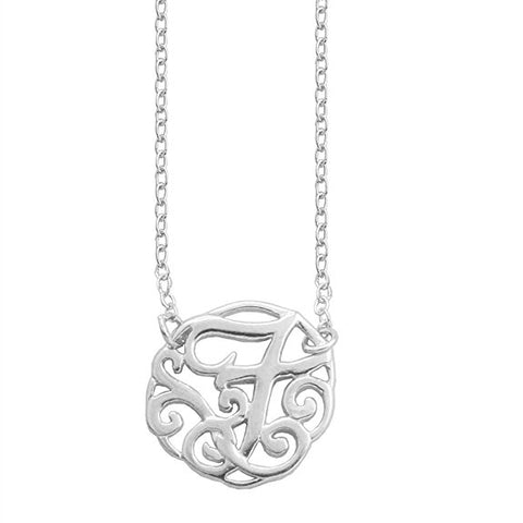 Monogram Letter F Necklace-teklaestelle