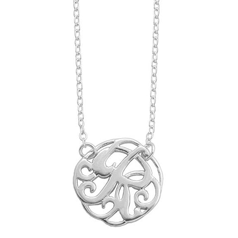 Monogram Letter R Necklace-teklaestelle