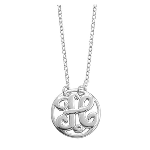 Monogram Letter H Necklace-teklaestelle