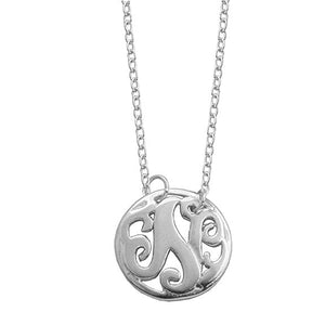 Monogram Letter N Necklace-teklaestelle