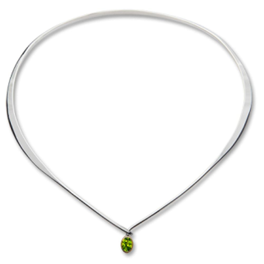 Ed Levin Jewelry-Necklace-Adore, Peridot, Sterling Silver & 14K Gold Accent
