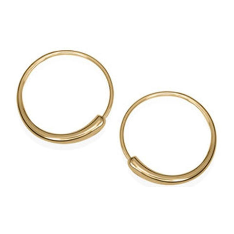 Ed Levin Jewelry-Earring-Icicle Hoop, 14K Gold