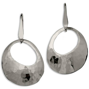 Ed Levin Jewelry-Earring-Olive Earrings, Sterling Silver