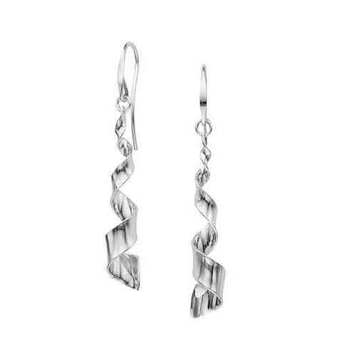 Twist Earrings, Sterling Silver