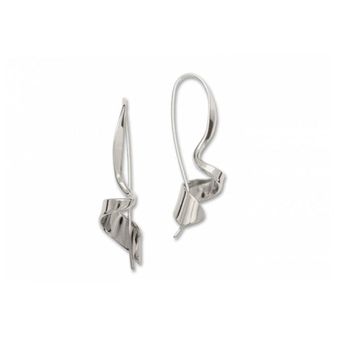 Ed Levin Jewelry-Earring-Corkscrew Earrings, Sterling Silver