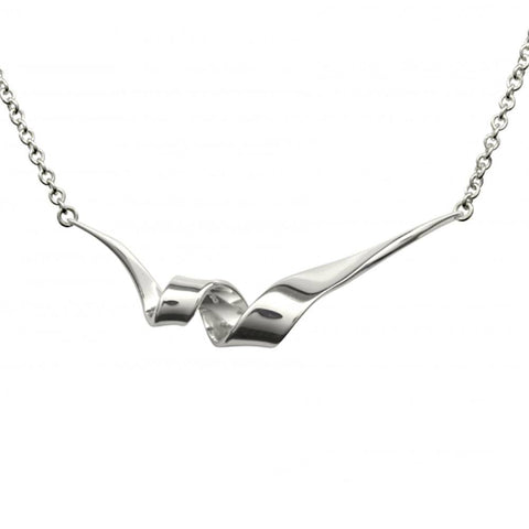 Ed Levin Jewelry-Necklace-Corkscrew Necklace, Sterling Silver