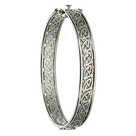 Window to The Soul Hinged Bangle, Sterling Silver
