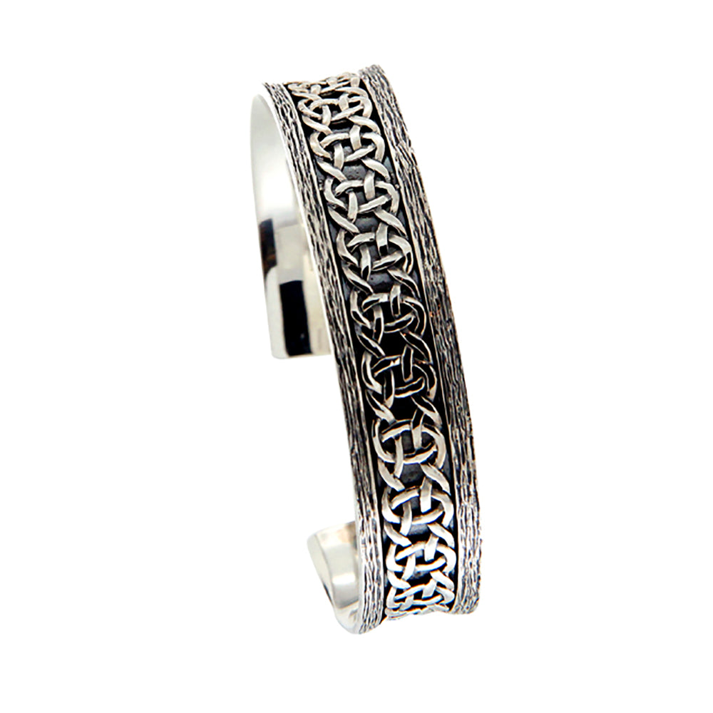 Barked Scavaig Bangle, Sterling Silver