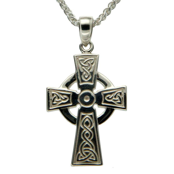 Keith Jack Jewelry-Celtic Cross Medium Necklace, Sterling Silver