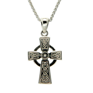 Celtic Cross Medium Necklace, Sterling Silver