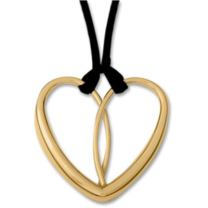 Ed Levin Jewelry-Necklace-Heart Necklace, Gold Plated