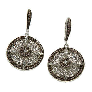 Keith Jack Jewelry-Night & Day Round Leverback Earrings, Sterling Silver