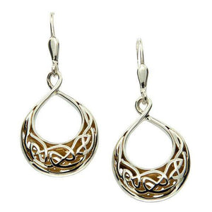 Keith Jack Jewelry-Window to the Soul Teardrop Leverback Earrings, Sterling Silver & 22k Gilded Gold