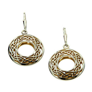 Keith Jack Jewelry-Window To The Soul Earrings, Sterling Silver & 22k Gilded Gold