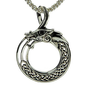 Keith Jack Jewelry-Eye of the Dragon Necklace, Sterling Silver with Black Cubic Zirconia