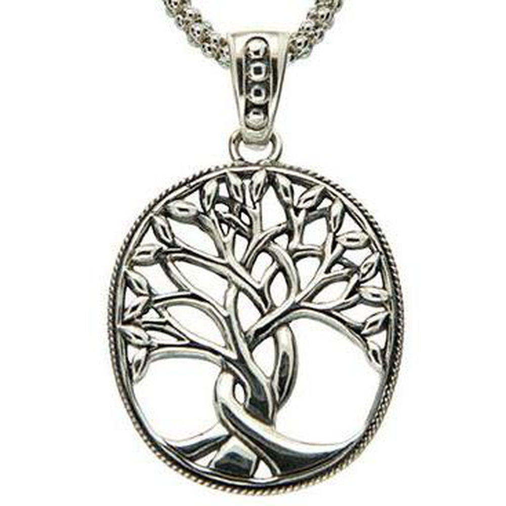 Keith Jack Jewelry-Tree of Life Large Necklace, Sterling Silver