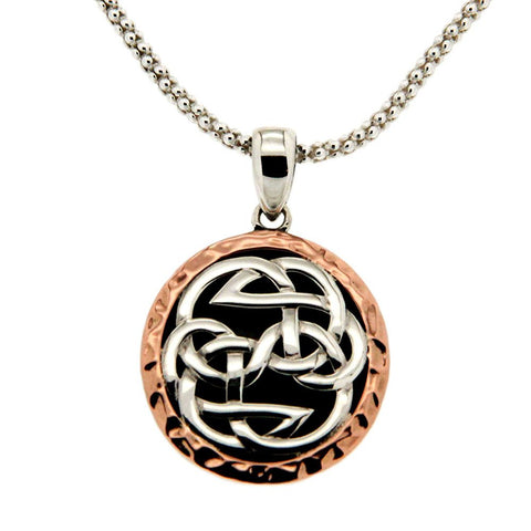 Lewis Knot - Path of Life Necklace, Sterling Silver & 10k Rose Gold