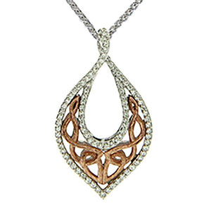 Keith Jack Jewelry-Barked Necklace, Sterling Silver & 10k Rose Gold