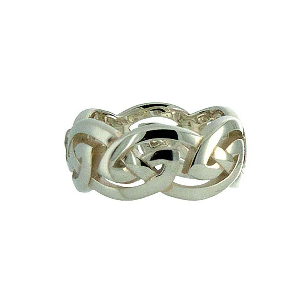 "Keith Jack Jewelry-Eternity Knot ""Gowan"" Ring X-Wide, Sterling Silver"