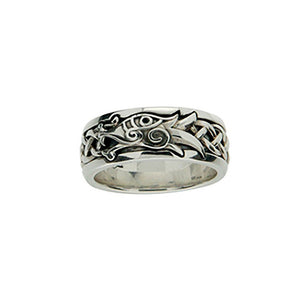 Keith Jack Jewelry-Dragon Ring, Sterling Silver