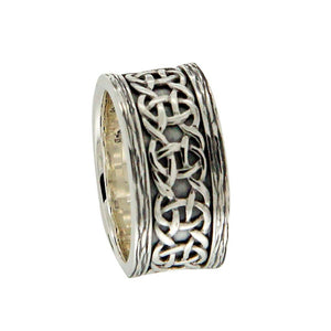 Barked Scavaig Ring, Sterling Silver