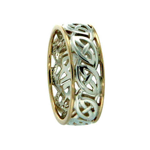 "Keith Jack Jewelry-Window to The Soul ""Ness"" Ring, Sterling Silver & 10k Gold"