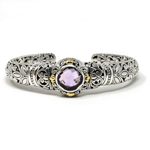 Floral Filigree Hinged Cuff, 925 Sterling Silver