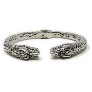 Dragon Naga Filigree Bracelet, 925 Sterling Silver