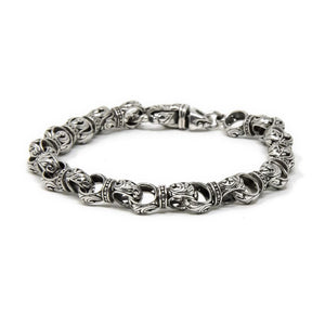 Filigree Lobster Clasp Bracelet, 925 Sterling Silver