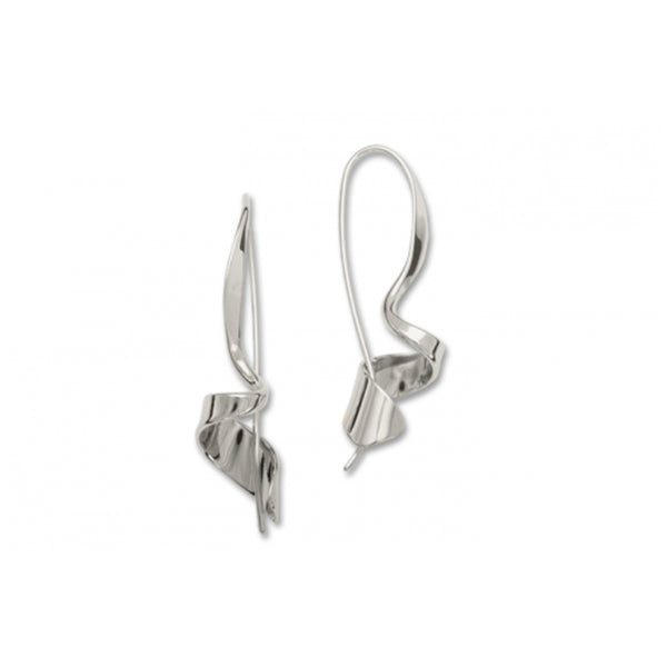 Corkscrew Earrings, Sterling Silver