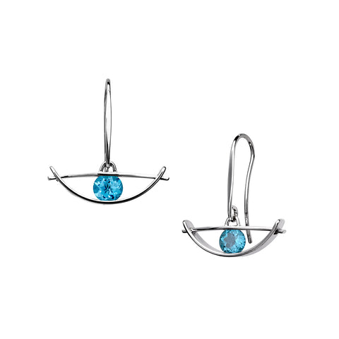 Envision Blue Topaz Earrings, Sterling Silver