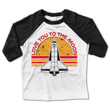 Love You To the Moon Baseball Tee