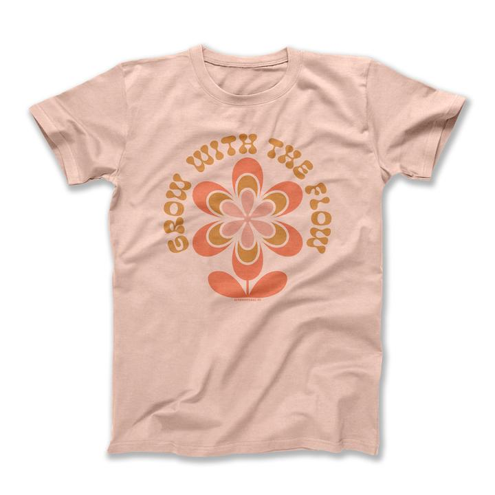 Grow With The Flow Adult Tee - Peach Triblend