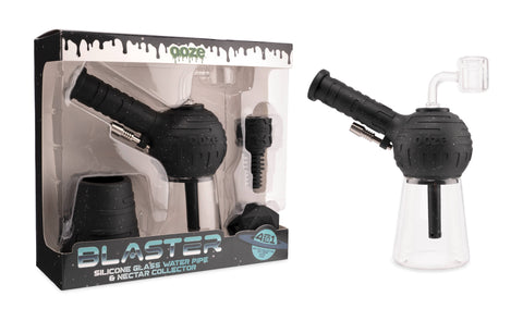 Ooze Blaster Hybrid in Shimmer Black in box on left and out of box on right