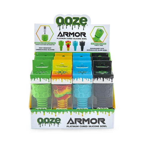 Ooze Armor Silicone Bowl Display - 12ct