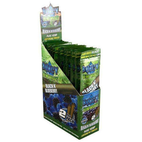 Juicy Jays Hemp Wraps Black N Blueberry - 25ct