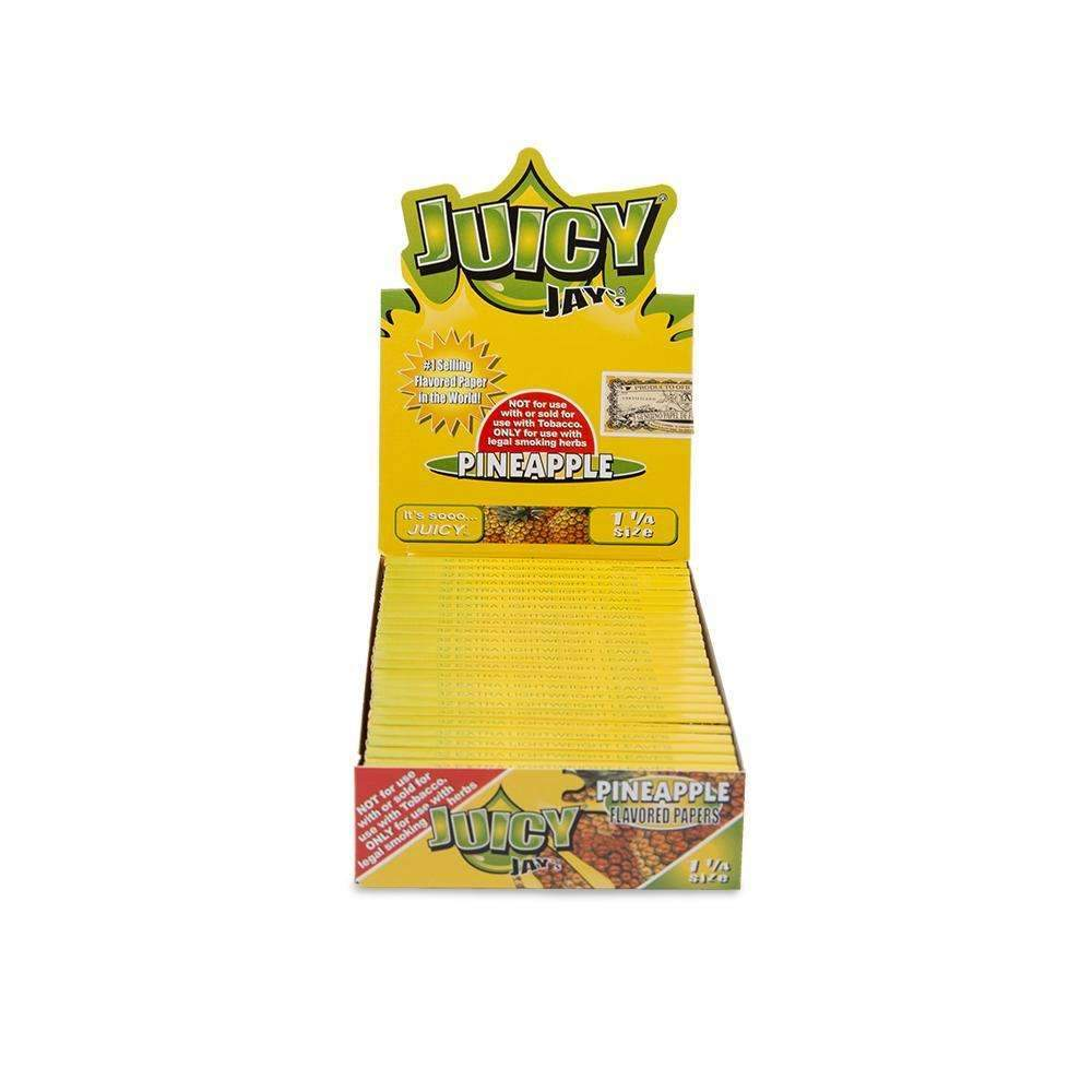Juicy Jays Pineapple Papers 1 1/4 - 24Ct Rolling