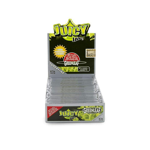 Juicy Jays Super Fine Green Leaf Papers 1 1/4 - 24ct